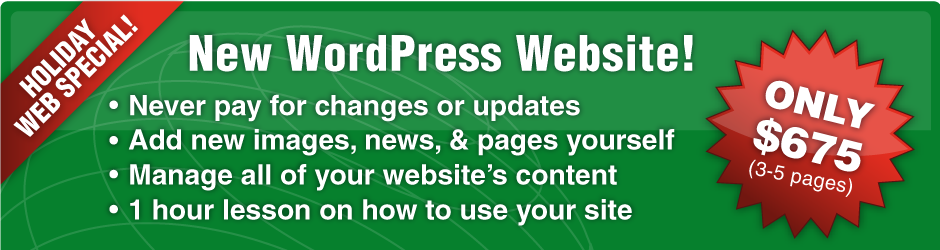 $675 Wordpress Website Package and Discounted Additional Features